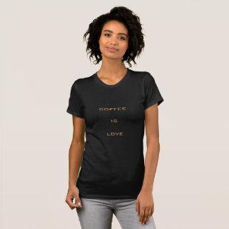 El café es amor camiseta