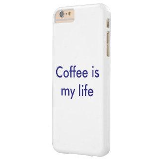 El café es mi caso de la vida funda barely there iPhone 6 plus