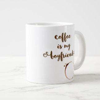 El café es mi novio - taza enorme