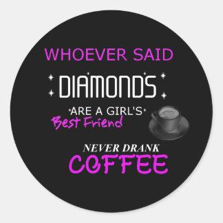 El café es mi pegatina grande de BFF