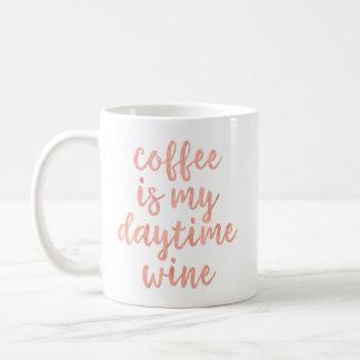 El café es mi taza diurna del vino