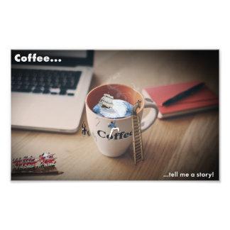 El café me dice un poster de la historia foto