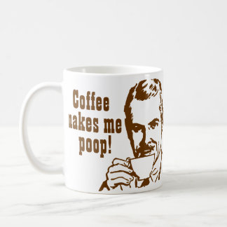 ¡El café me hace impulso! Taza Básica Blanca