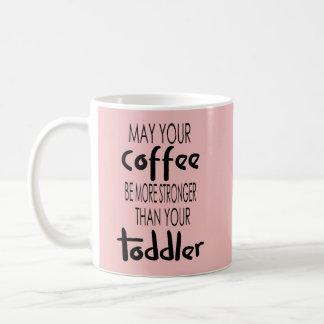 El café sea más fuerte que la taza de café del