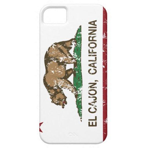 EL Cajon de la bandera del estado de California iPhone 5 Protectores