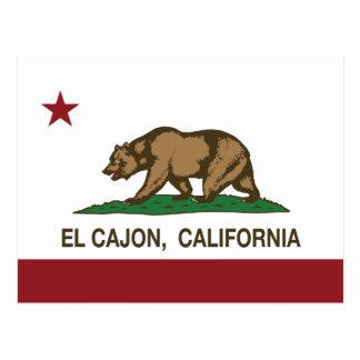 EL Cajon de la bandera del estado de California Postal