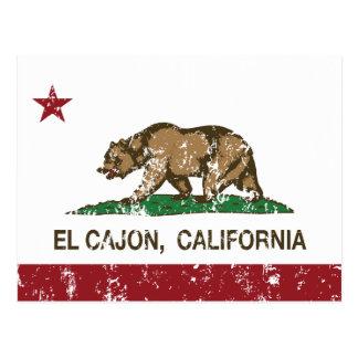 EL Cajon de la bandera del estado de California Tarjetas Postales