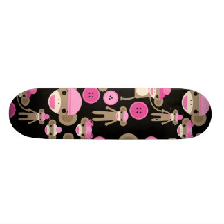 El calcetín rosado femenino lindo Monkeys a chicas Tablas De Patinar