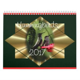El calendario 2017 del colibrí - cambie el año