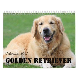 El calendario 2017 del golden retriever lo