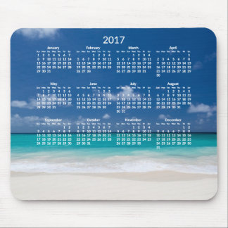 El calendario anual de la playa Mousepads 2017 Alfombrilla De Ratón