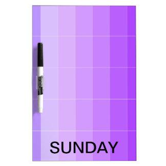 El calendario seco del tablero del borrado de
