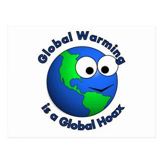 El calentamiento del planeta es broma global postal