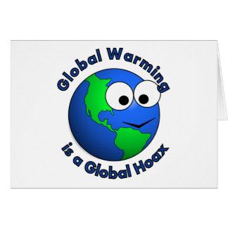 El calentamiento del planeta es broma global tarjeta