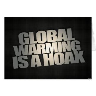 El calentamiento del planeta es broma tarjeta de felicitación