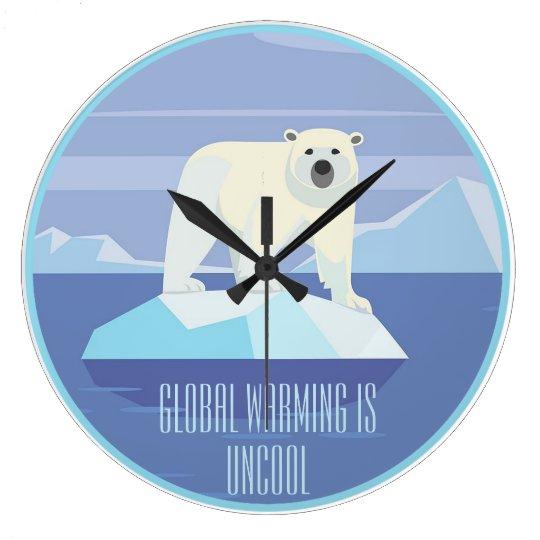 El calentamiento del planeta es nada sofisticado: reloj redondo grande