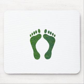 El calentarse de EarthDay de la huella del verde d Tapete De Ratón
