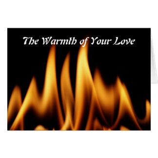 El calor de su amor tarjeta de felicitación