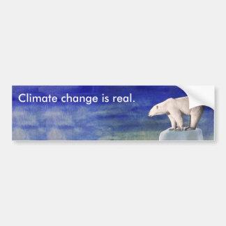 El cambio de clima es pegatina para el parachoques