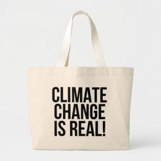 ¡El cambio de clima es real! Mundo de la tierra Bolso De Tela Gigante
