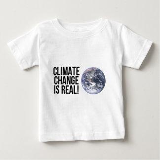 ¡El cambio de clima es real! Mundo de la tierra Camiseta De Bebé