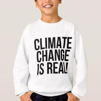 ¡El cambio de clima es real! Mundo de la tierra Sudadera