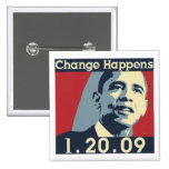 El cambio de Obama sucede botón Pin