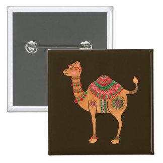 El camello étnico chapa cuadrada
