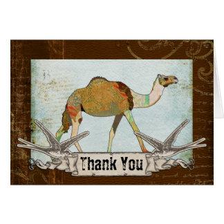 El camello soñador le agradece cardar tarjeta de felicitación