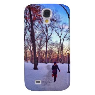 El caminar bajo puesta del sol del invierno samsung galaxy s4 cover