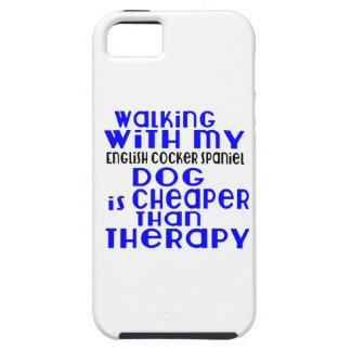 El caminar con mi diseño del perro de cocker funda para iPhone SE/5/5s