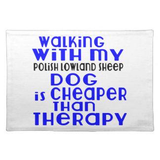 El caminar con mi diseño polaco del perro del mantel