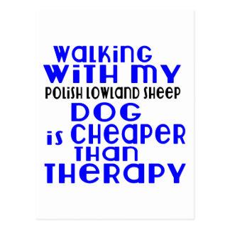 El caminar con mi diseño polaco del perro del postal