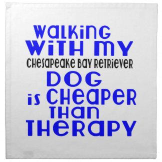 El caminar con mi perro Desig del perro perdiguero Servilleta De Tela