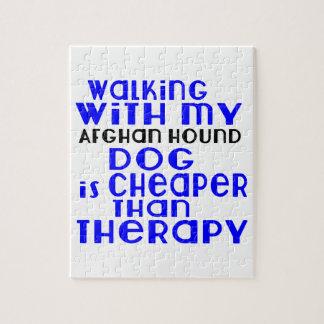 El caminar con mis diseños del perro de afgano puzzle