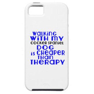 El caminar con mis diseños del perro de cocker funda para iPhone SE/5/5s