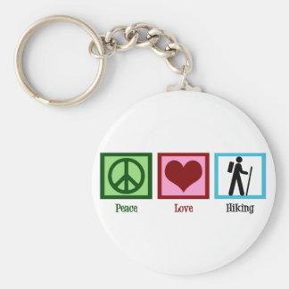 El caminar del amor de la paz llavero redondo tipo chapa