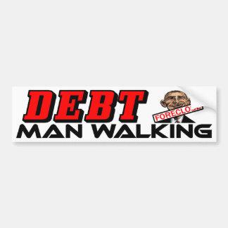 El caminar del hombre de la deuda: ¡Barack Obama! Pegatina Para Coche