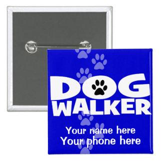 ¡El caminar del perro y promoción del caminante de Chapa Cuadrada