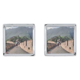 El caminar en la Gran Muralla de China Gemelos Plateados