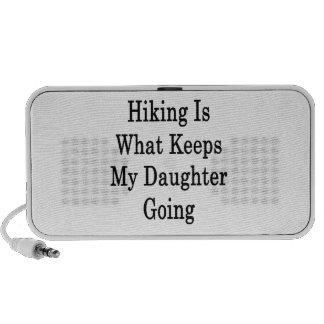 El caminar es qué guarda mi ir de la hija iPod altavoz