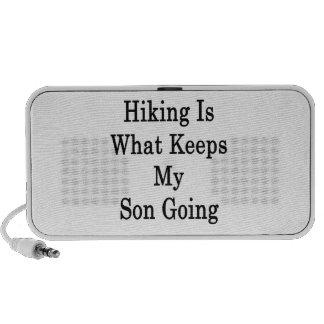 El caminar es qué guarda mi ir del hijo laptop altavoces