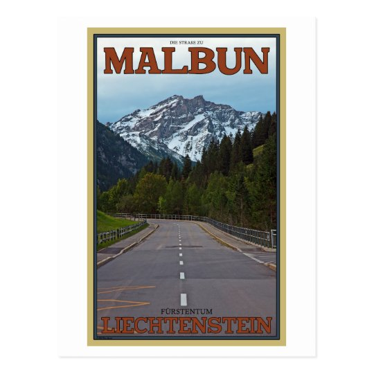 El camino a Malbun Postal