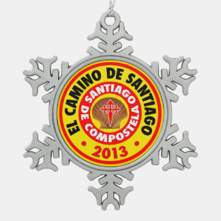 EL Camino De Santiago 2013 Adorno De Peltre En Forma De Copo De Nieve