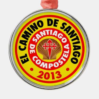 EL Camino De Santiago 2013 Adorno Navideño Redondo De Metal