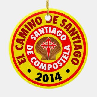 EL Camino De Santiago 2014 Adorno Navideño Redondo De Cerámica
