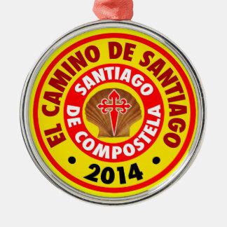 EL Camino De Santiago 2014 Adorno Navideño Redondo De Metal