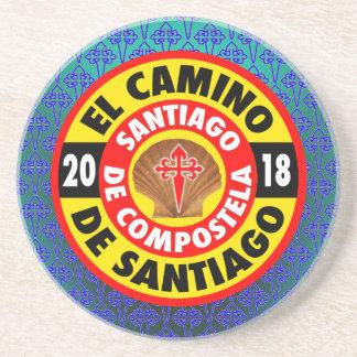 EL Camino de Santiago 2018 Posavasos De Arenisca