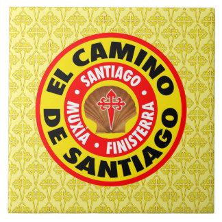 EL Camino de Santiago Azulejo Cuadrado Grande