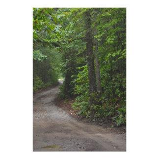 El camino de tierra en verano papeleria personalizada